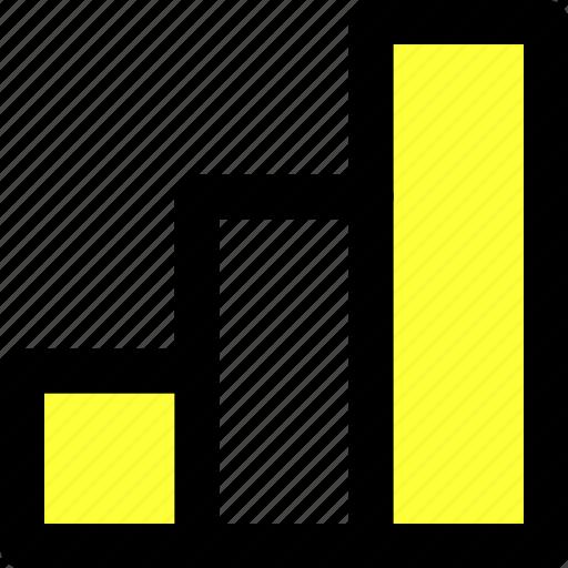 bars, column, graph, illustrator, statistics, stats, tool icon