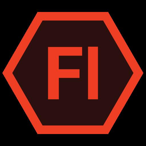 adobe, fl, hexa, tool icon