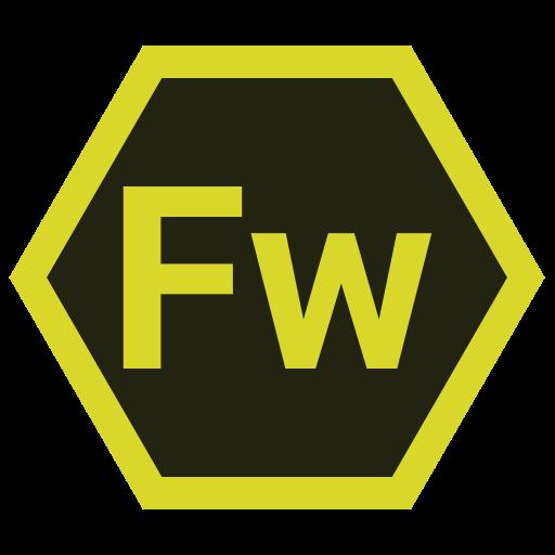 adobe, fw, hexa, tool icon