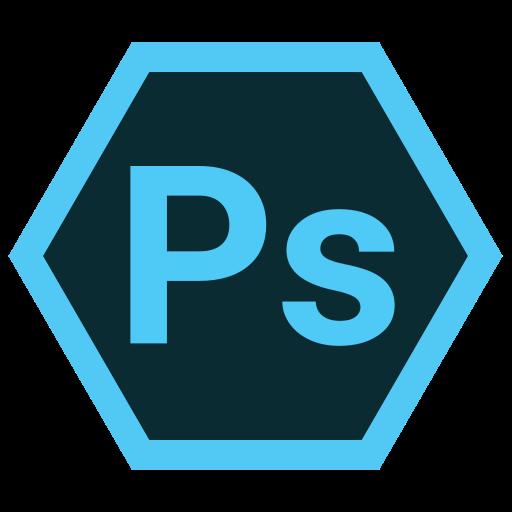 adobe, hexa, ps, tool icon