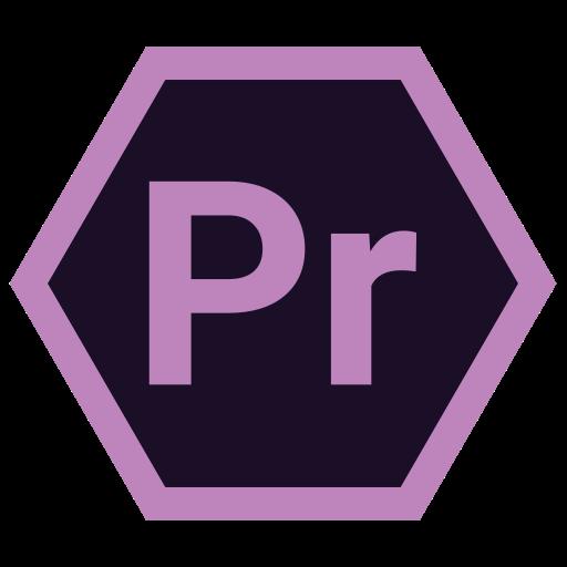 adobe, hexa, pr, tool icon