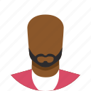 avatar, black, bold, male, man, people, person icon