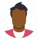 avatar, black, brown, male, man, people, person icon