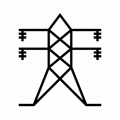 distribution, energy, poles, power icon