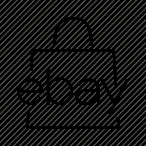 bag, ebay icon