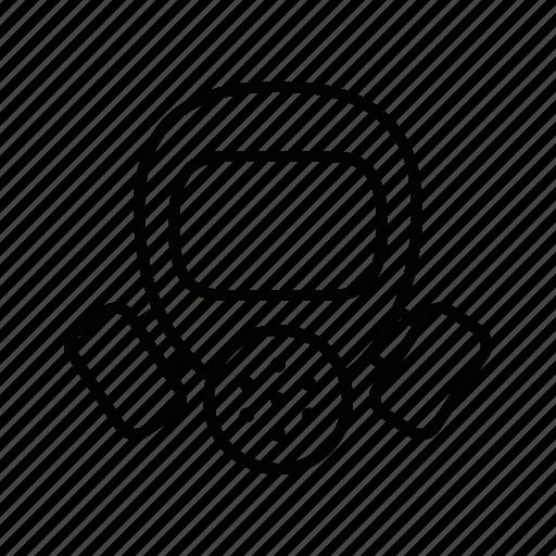 environment, gas, mask, work icon