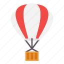 air, ballon, fly, holiday, hot, travel icon
