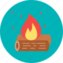 campfire, camping, fire, forest, outdoor, wildlife icon