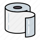 clean, paper, toilet, wipe icon