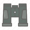 adventure, binocular, gear, object, outdoor, travelling icon