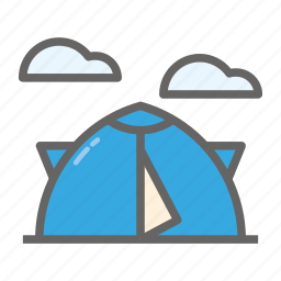 adventure, camp, gear, object, outdoor, tent, travelling icon