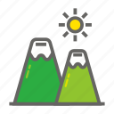 adventure, gear, mountain, object, outdoor, travelling icon
