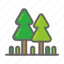 adventure, gear, object, outdoor, park, travelling, tree icon