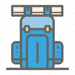 adventure, back pack, gear, object, outdoor, travelling icon