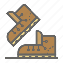 adventure, boot, gear, object, outdoor, travelling icon
