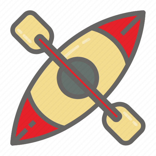 adventure, gear, kayak, object, outdoor, travelling icon