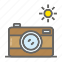 adventure, camera, gear, object, outdoor, travelling icon