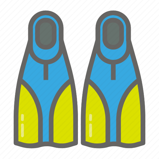 adventure, dive, fin, gear, object, outdoor, travelling icon