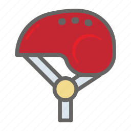 adventure, gear, helmet, object, outdoor, protect, travelling icon