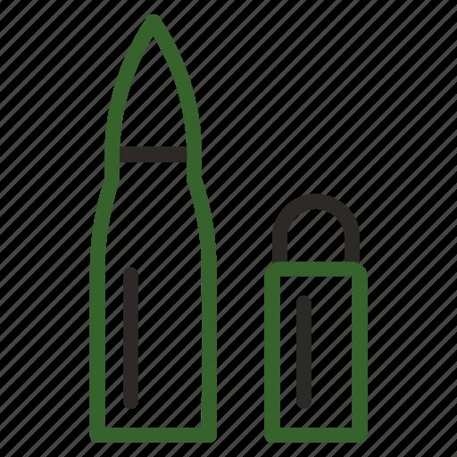 ammo, ammunition, bullet, danger, military icon