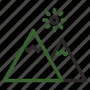 extreme, mountain, nature, peak icon