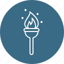 burn, camping, fire, flame icon