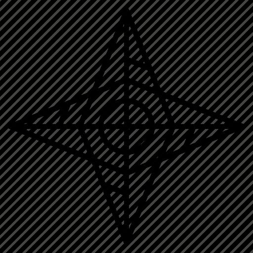 adventure, direction, star icon