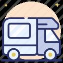campervan, caravan, conveyance, transport, vanity van, volkswagen icon