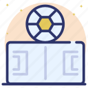 football arena, football field, football pitch, play arena, playground icon