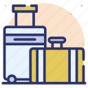 baggage, bags, luggage, tourist bags, travel bags icon