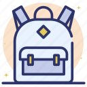 backpack, bag, haversack, hiking backpack, kitbag, knapsack icon