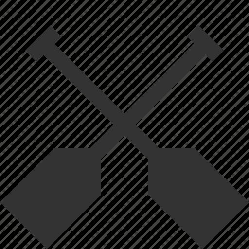canoe, kayak, oar, paddle icon