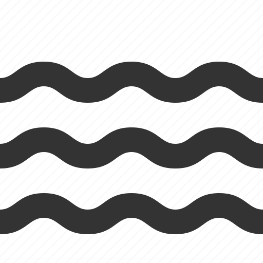 lake, river, water, wave icon