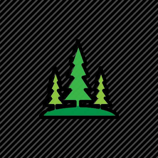 adventure, forest, pine tree, tree icon
