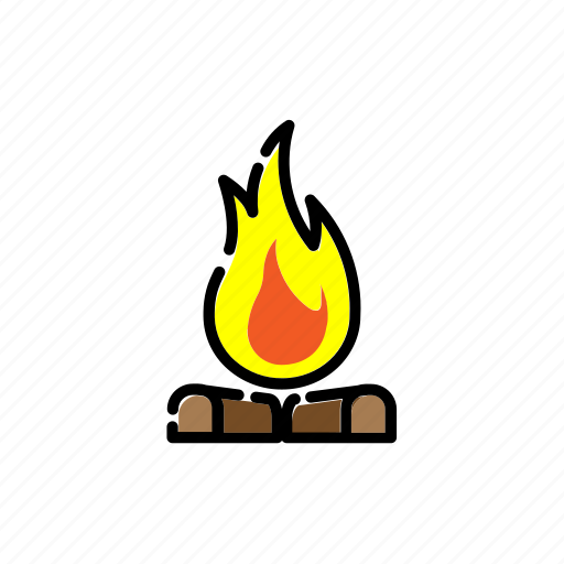 Adventure, bonfire, camping, fire, hot icon - Download on Iconfinder