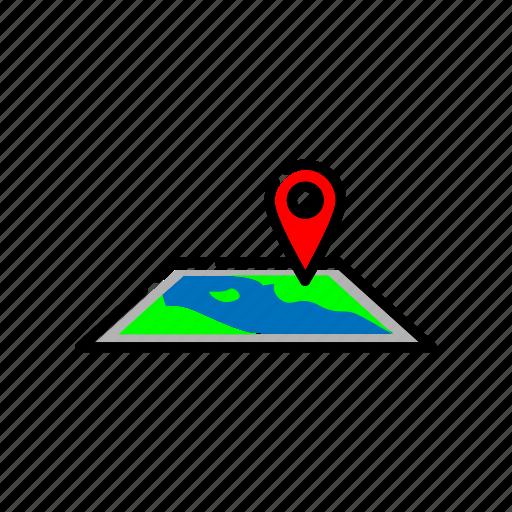 adventure, direction, location, map, navigation icon
