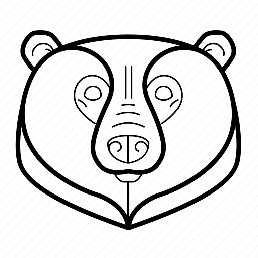 animal, bear, danger, grizzly, head, wild icon
