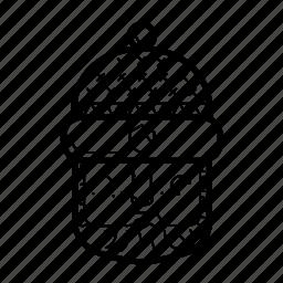avatar, beard, face, hat, lumberjack, man, portrait icon