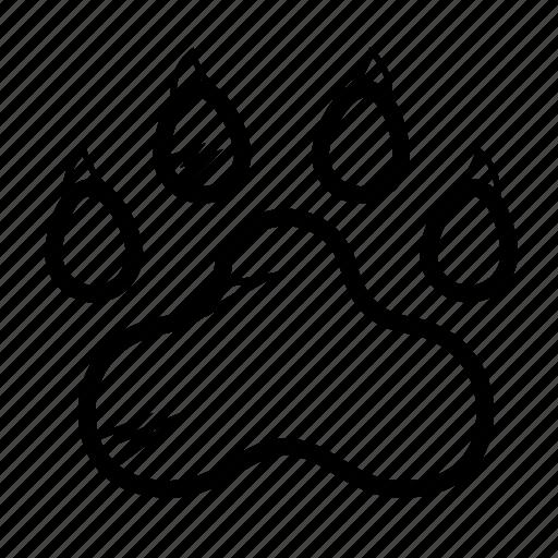 animal, claw, footprint, path, paw, wild icon
