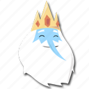 adventure, crown, iceking, time icon
