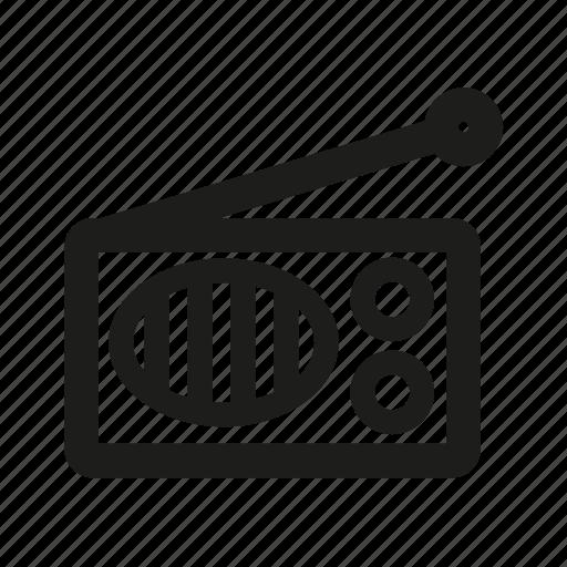 advertisement, radio icon