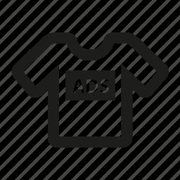 advertising, shirt, t-shirt, top icon
