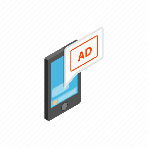 ad, computer, device, isometric, pc, smartphone, technology icon