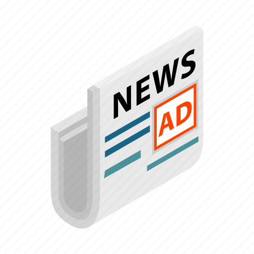 ad, advertise, business, information, newspaper, stand, store icon