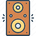 accoustic, amplifier, music, noise, old, speaker, woofer