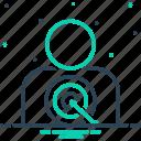client, clientele, consumer, customer target, patron, purchaser, shopper icon