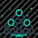association, endeavor, organization, performance, struggle, work group, workforce icon