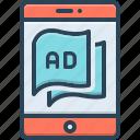 ad, advertisement, blurb, device, marketing, tablet, technology
