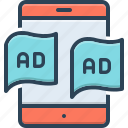 ad, advertisement, blurb, device, reclame, tablet, technology