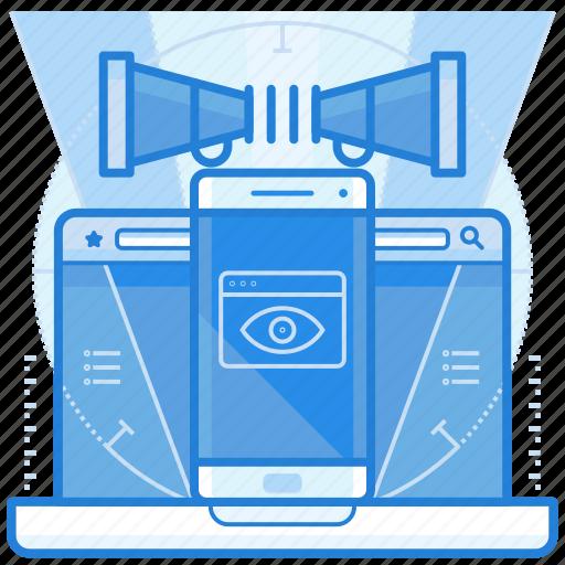 ad, digital, internet, online icon